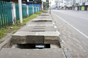Disappear Into a Sewer in Medan, Indonesia
