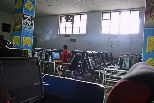 Chinese Internet Cafe Image