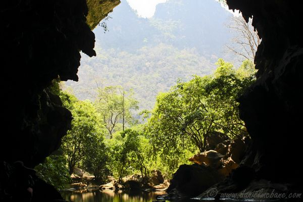 Water in Cave Laos Loop