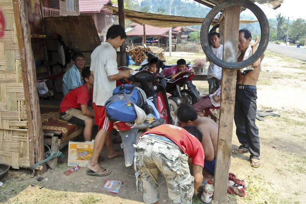 Bike Repair Shop Laos