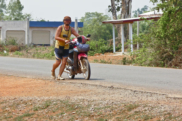 Motorbike Breakdown Laos