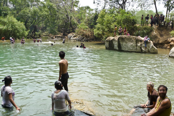 Local Swimming Lake Laos