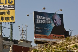 Bruce Willis Billboard Mumbai