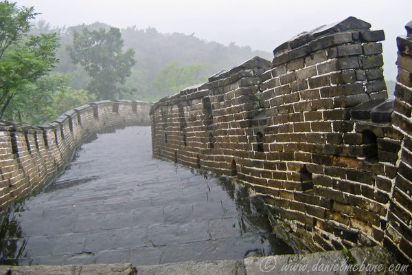 Great Wall of China in the Rain