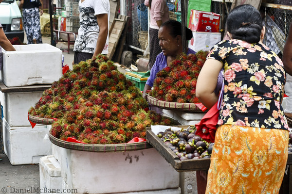 Fruit Street Vendor Myanmar