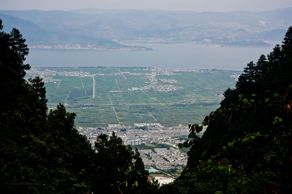 Dali valley view from Cangshan
