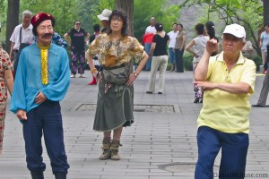 Old Chinese Hipsters Dance in Beijing's Jingshan Park