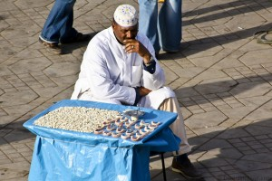 Tooth Vendor in Marrakech's Djemaa El-Fna