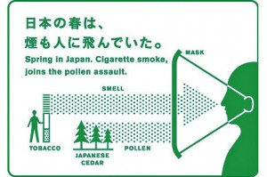 Spring Themed Japanese Smoking Manners Posters