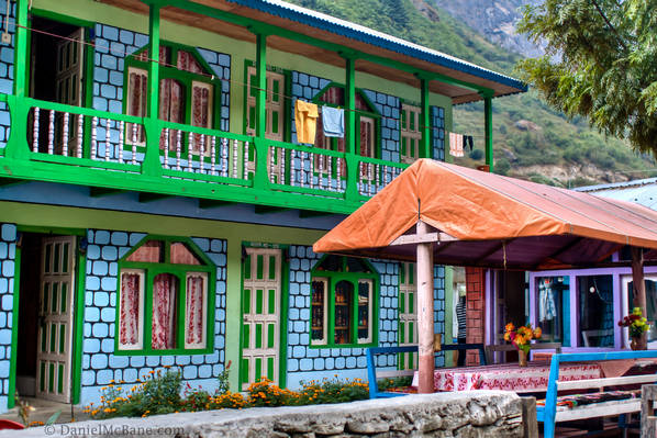 A guesthouse in Tal on the Annapurna trek