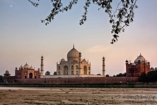 Taj Mahal across the Yamuna River