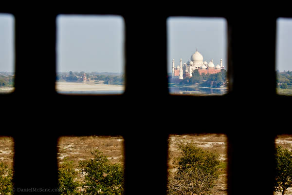 Taj Mahal viewed from Agra Fort