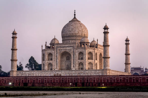 Taj Mahal in Agra at sunset