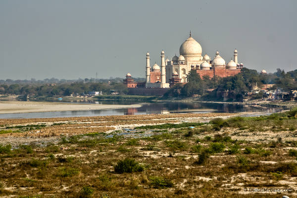 Taj Mahal on the Yamuna River