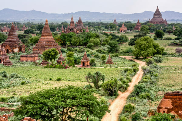 Temples and stupas in Bagan Myanmar