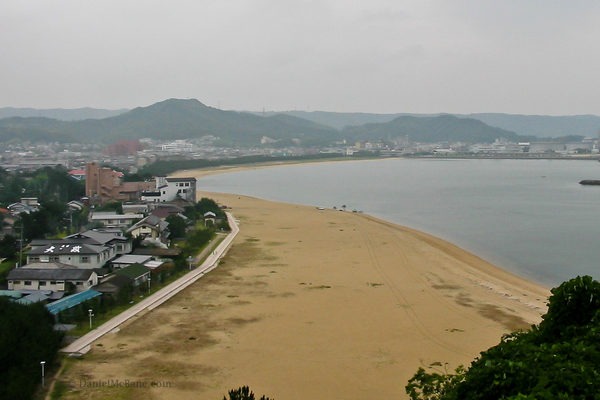 a beach in Karatsu, Saga, Japan