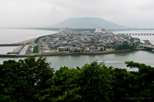 Karatsu seen from the castle in Saga, Japan