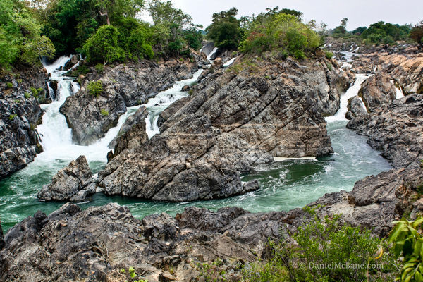 Khone Falls at Si Phan Don Laos