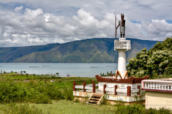 Statue on Samosir Island in Lake Toba