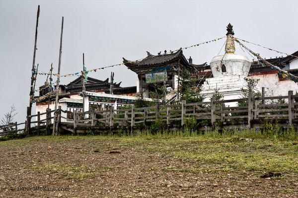 Tibetan temple on Jade Dragon Snow Mountain