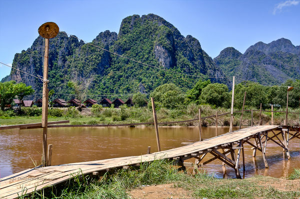 Nam Song in Vang Vieng Laos