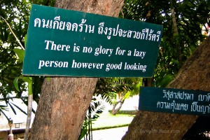 Saying at Phra Singh temple in Chiang Mai