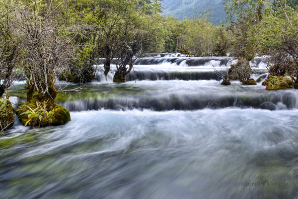 Rushing water in Jiuzhaigou, Sichuan, China