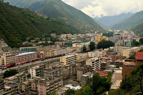 Maerkang City in northern Sichuan, China