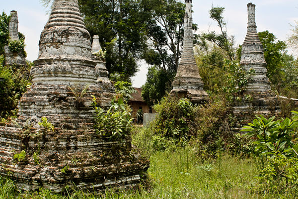 Anciant stupas in Hsipaw Myanmar