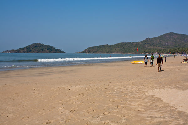 Palolem Beach in southern Goa, India