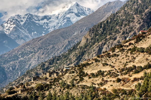 Upper Pisang along Annapurn Circuit Trek