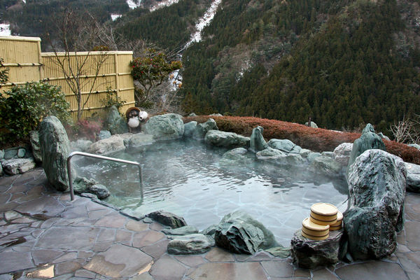 Rotenburo hot spring in Japan