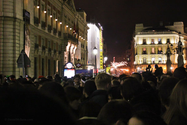 Puerta del Sol in Madrid on New Year's Eve