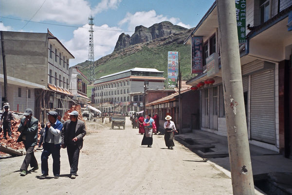 Downtown Langmusi in Sichuan China