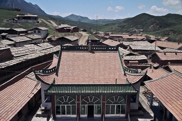 Rooftops of Langmusi in Sichuan China