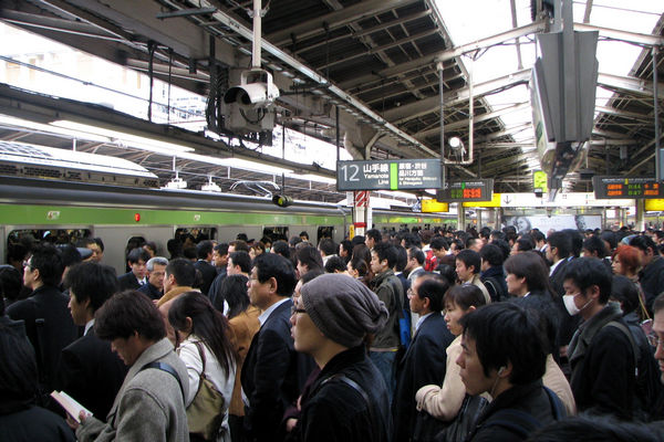 Rush hour at Shinjuku Station