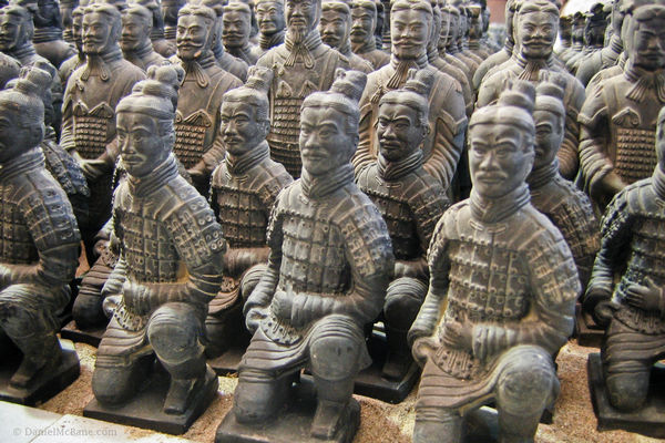 Terracotta warrior workshop in Xi'an, China