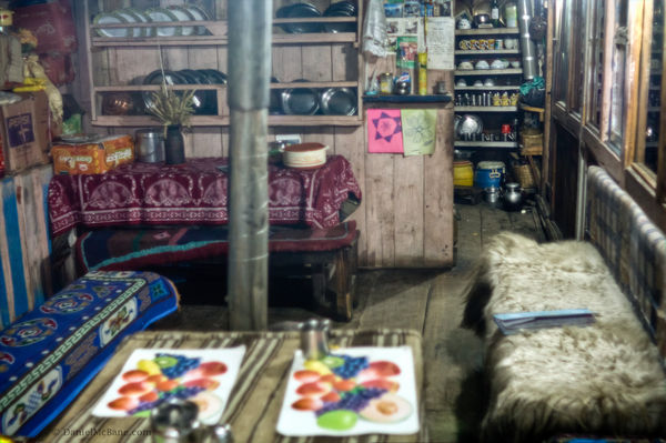 Inside a guesthouse in Pisang on the Annapurna Circuit
