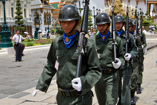 Thai soldiers at Bangkok Grand Palace