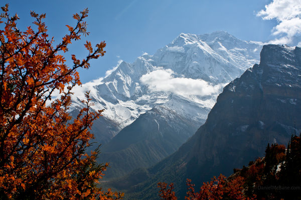 Annapurna mountain between Ghyaru and Ngawal, Nepal