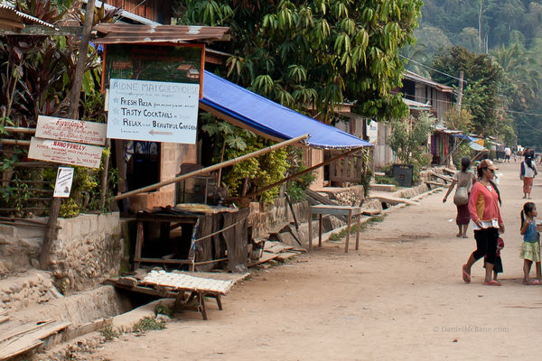 A guesthouse in the Lao village of Muang Ngoi