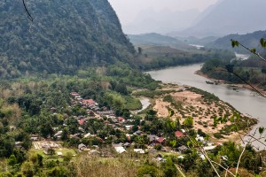 Muang Ngoi Neue in northern Laos from a viewpoint