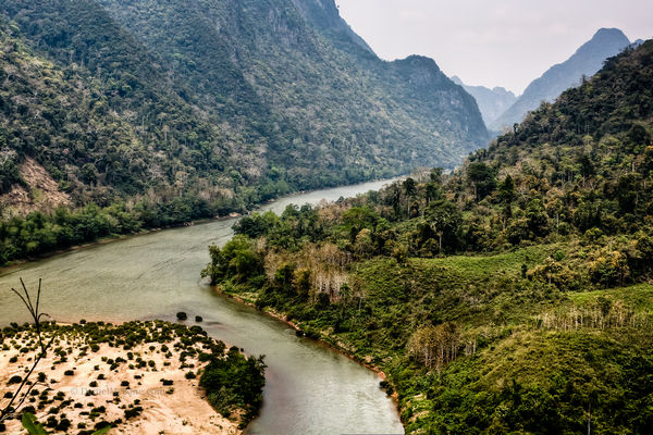 The Nam Ou River near Muang Ngoi in Laos