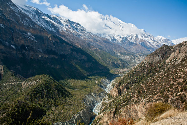 the Manang valley after Pisang in Nepal
