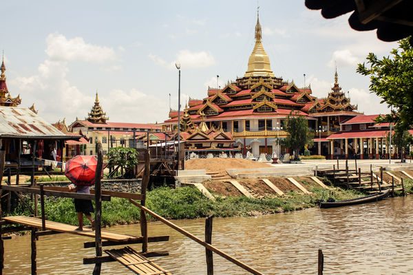 Phaung Daw Oo temple on Inle Lake in Myanmar