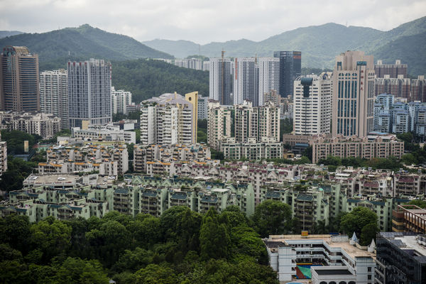 Hills in Meilin in northern Shenzhen