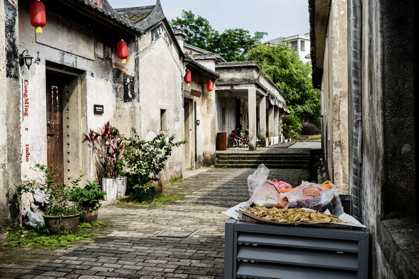 Ancient village with art galleries in Shenzhen China