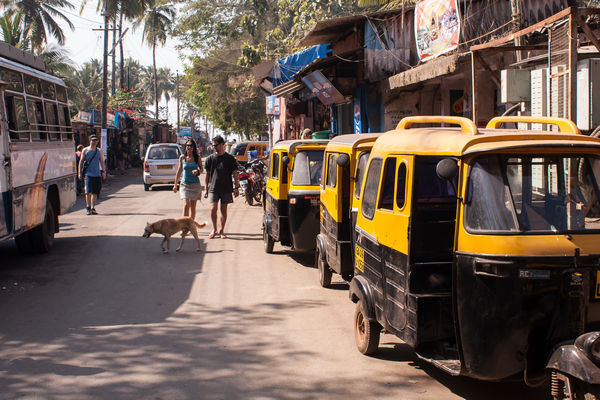 Auto-rickshaws near Palolem Beach