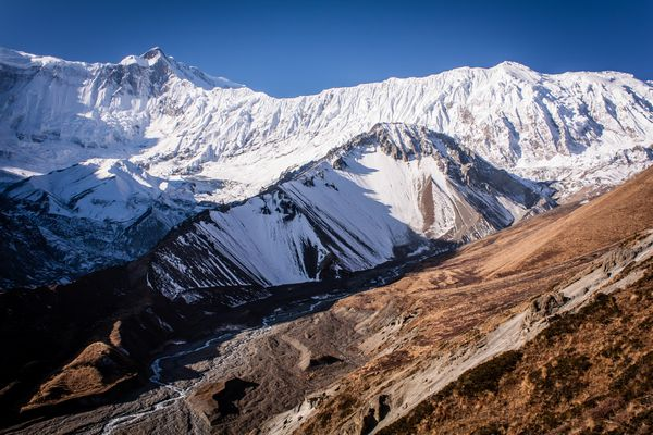 Tilicho Peak along the Annapurna Circuit in Nepal