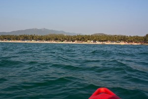 kayaking on Goa's Palolem Beach